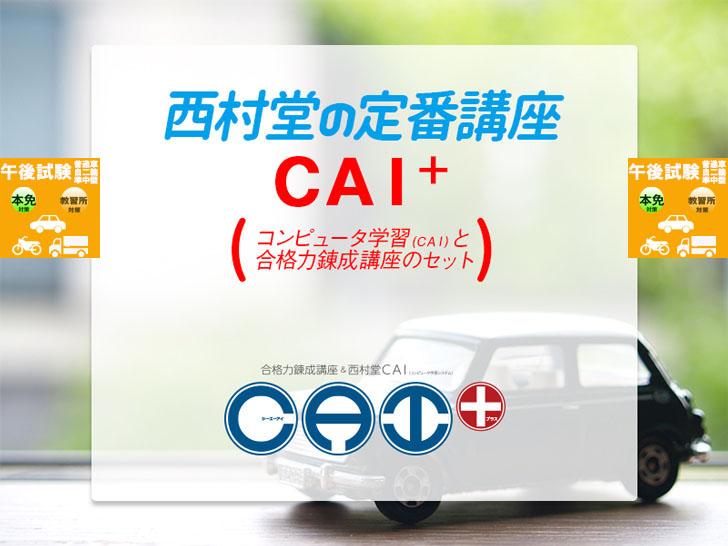 『CAI PLUS(プラス)』一種免許・午後試験対策 スケジュール